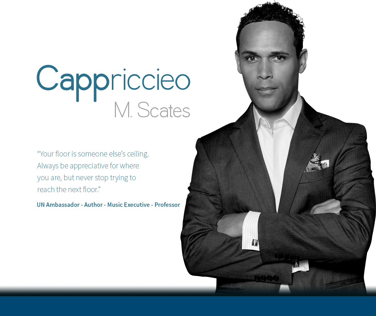 Cappriccieo Scates speaker for Seat at the Table with Shondra Cheris