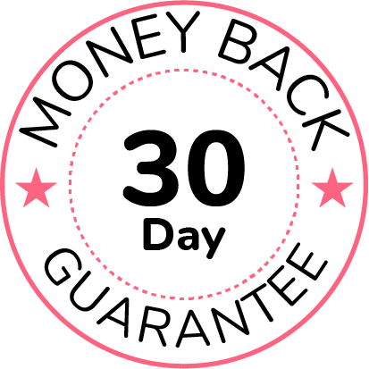 graphic of our 30-day money back guarantee for GrooveFunnels™