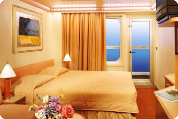 photo of the oceanview stateroom room