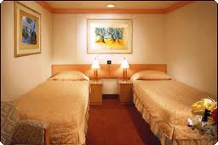 photo of the interior cabin room