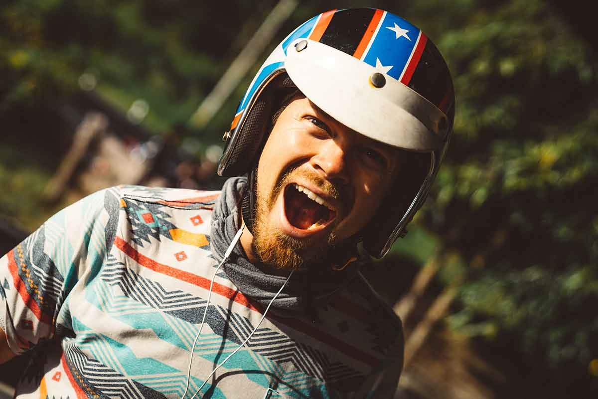 man with helmet excited about groovefunnels