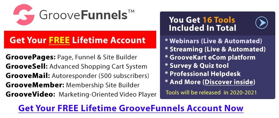 Get Free Lifetime Access To GrooveFunnels