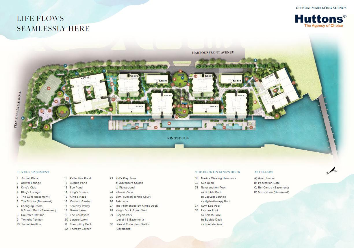reef at kings dock site map