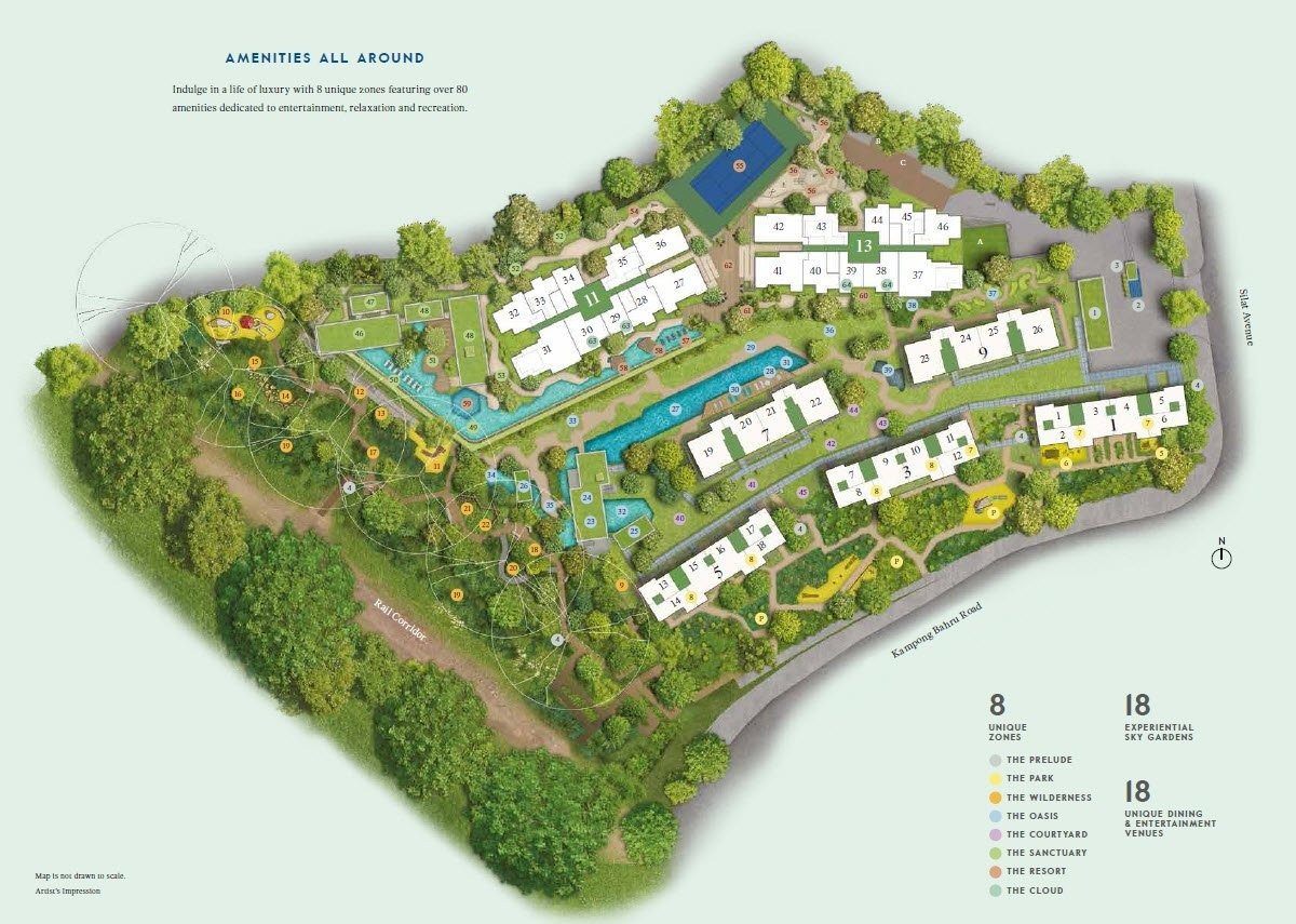 avenue south residence site map