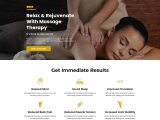 example massage web design