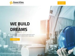 example construction web design