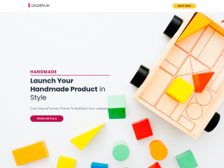 example handmade products web design