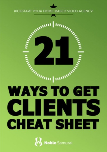 21 Ways to Get Clients Cheat-sheet