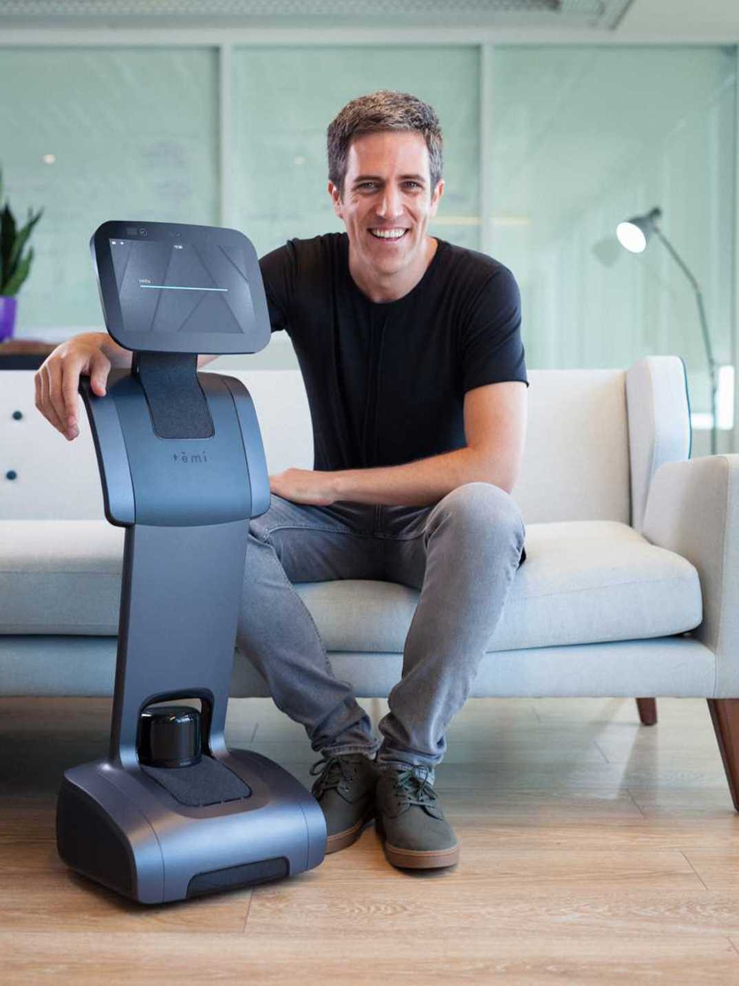Yossi Wolf with his amazing creation Temi, the worlds first truly intelligent, mobile and affordable, personal robot ... that actually works!