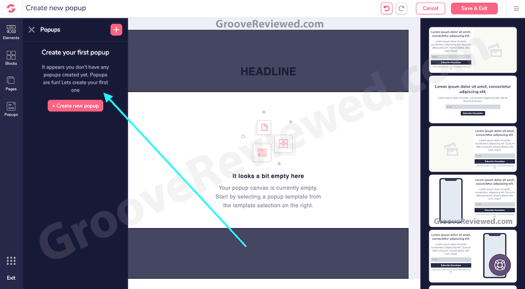 Benefits of a sales funnel: GrooveFunnels comes with GroovePages, the No.1 site and funnel builder platform. It becomes super easy to create pages, order forms, checkout carts, insert videos or create popups, all to make sure you can create the best connection with your audience and generate increased sales and profits. [GrooveReviewed.com]