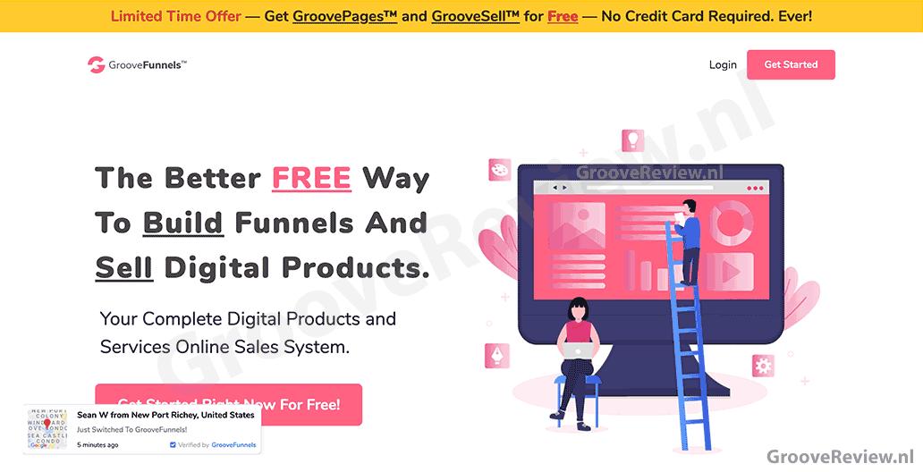 GrooveFunnels, de betere, gratis manier om sales funnels te bouwen en digitale producten te verkopen. Compleet online verkoopsysteem voor producten en diensten. Ga gratis aan de slag. Geen creditcard nodig. Krijg GrooveSell gratis voor een beperkte tijd. [GrooveReview.nl]