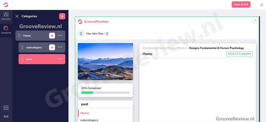GrooveFunnels & GrooveMember. Creëer makkelijk membership sites. Beschermd je inhoud, drip-feed content, templates met modern design, sjablonen voor lidmaatschapssites, import sites uit ClickFunnels, Kartra, Kajabi Alternatief. Opt-in mailinglijst, CRM-software.  [GrooveReview.nl]