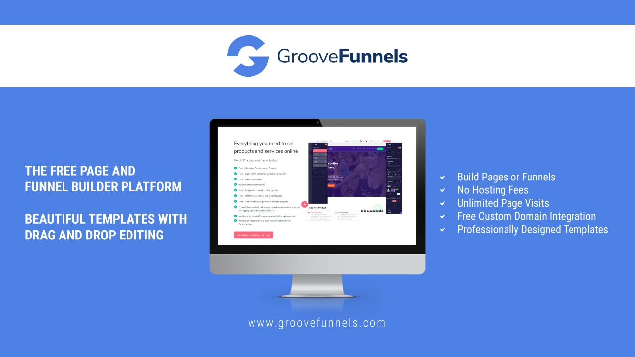 Free page and funnel builder platform. No hosting fees. Unlimited page visits. Free custom domain integration