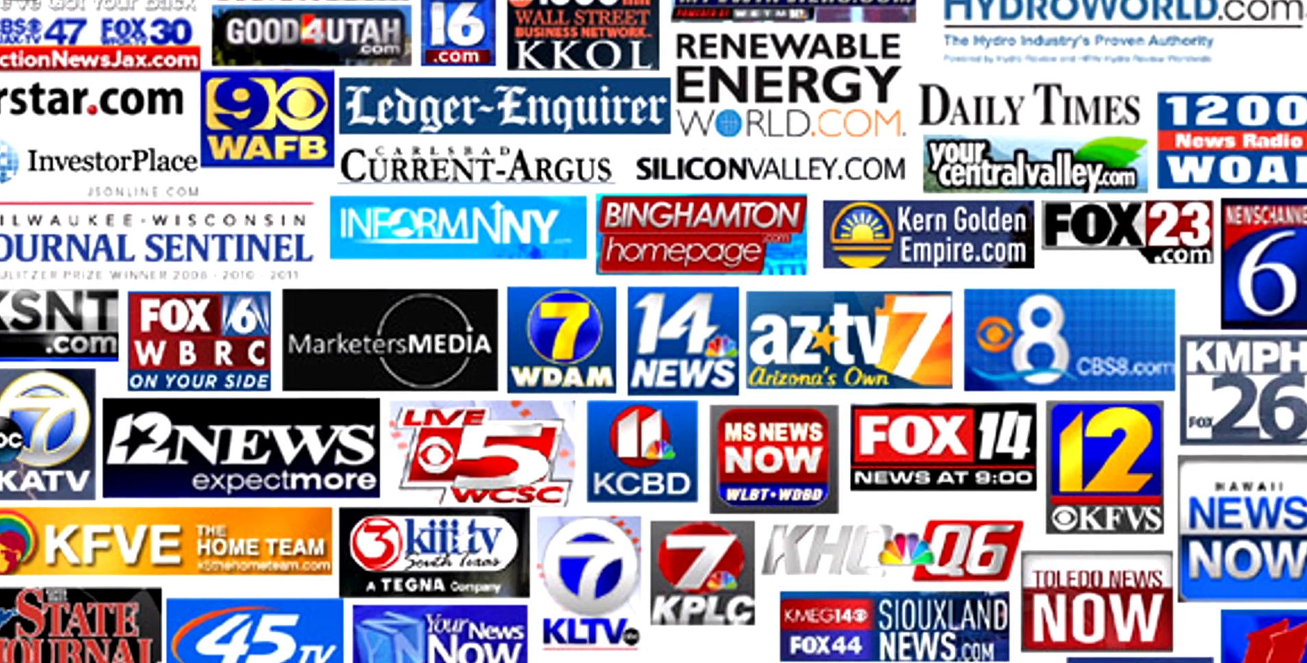 News site logos large media sites