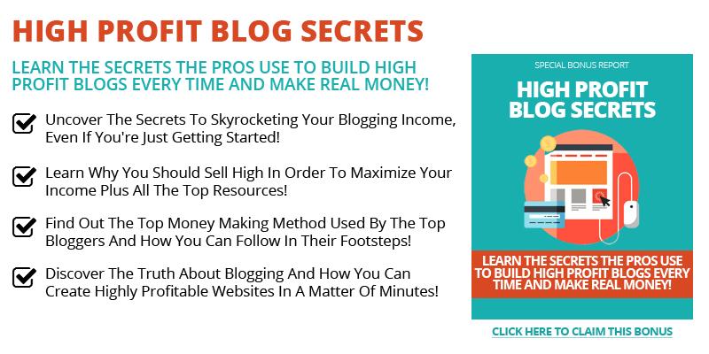 High Profit Blog Secrets