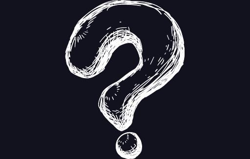 hjvera.com image of big white question mark on dark background