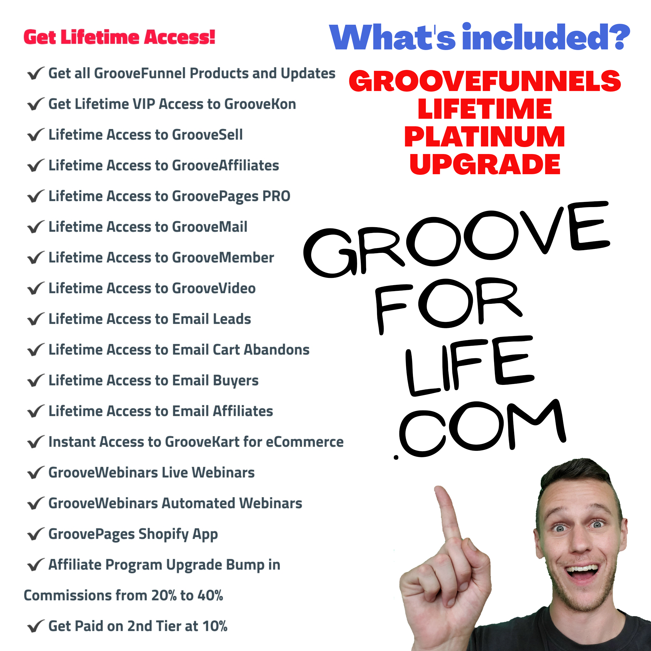 what comes with groovefunnels upgrade, what comes with groovefunnels pro, what's included with groovefunnels platinum upgrade, groovefunnels upgrade