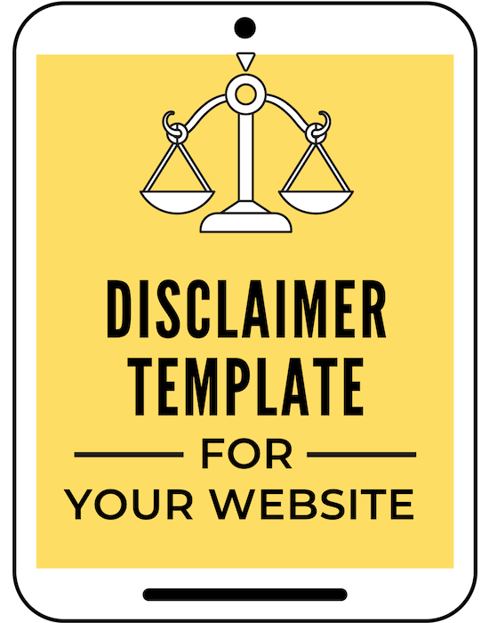 Legally protect your blog or website with this disclaimer