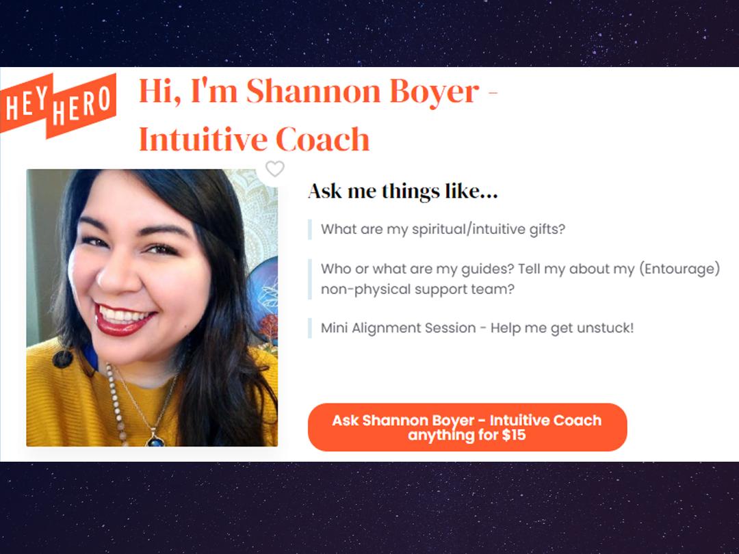 Shannon's HeyHero Profile