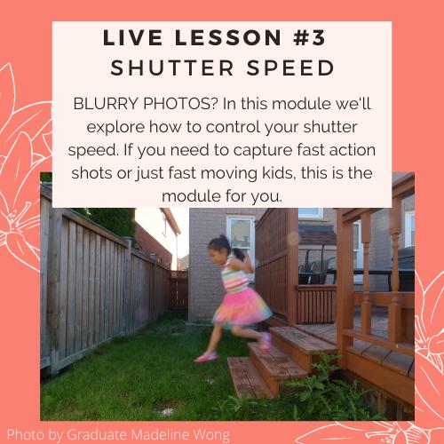 shutter speed; blurry photos