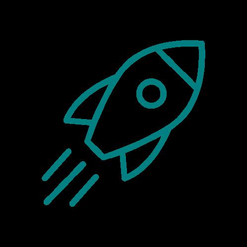 fast launching like a rocket