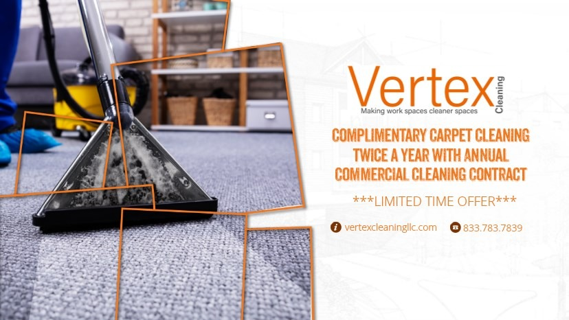 Vertex Cleaning LLC Commercial Carpet Cleaning Offer