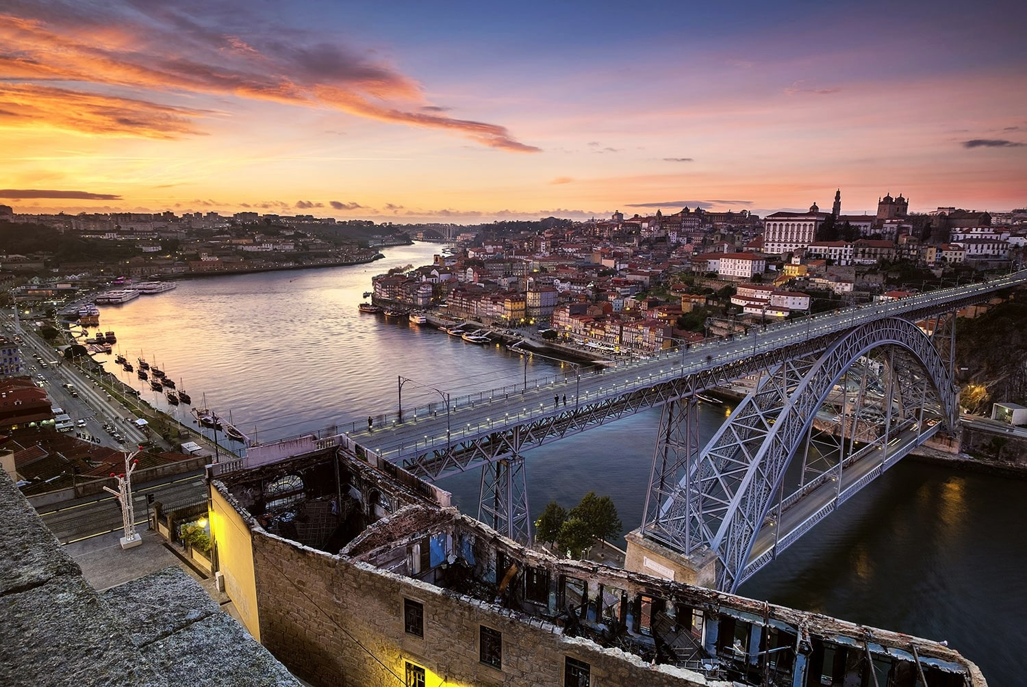 Porto Old Town Sunset