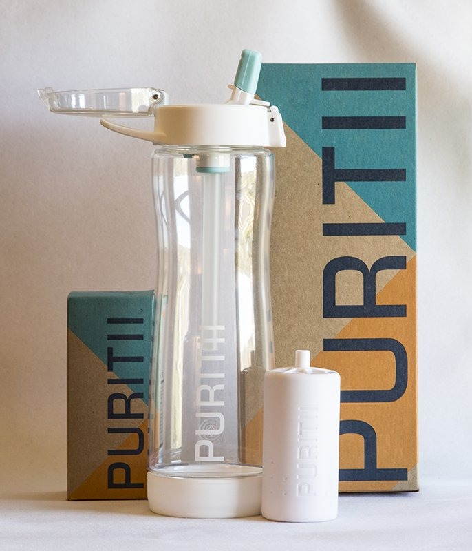 puritii water bottle & filter