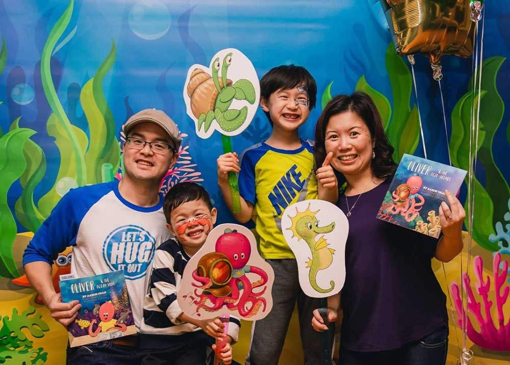 Aaron Chan and Family