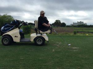 Dave Stevens playing golf