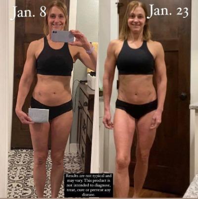 Julie F's 2 week transformation
