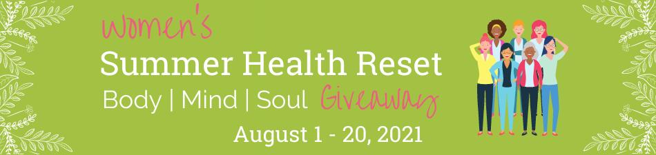 Women's Summer Health Reset Giveaway