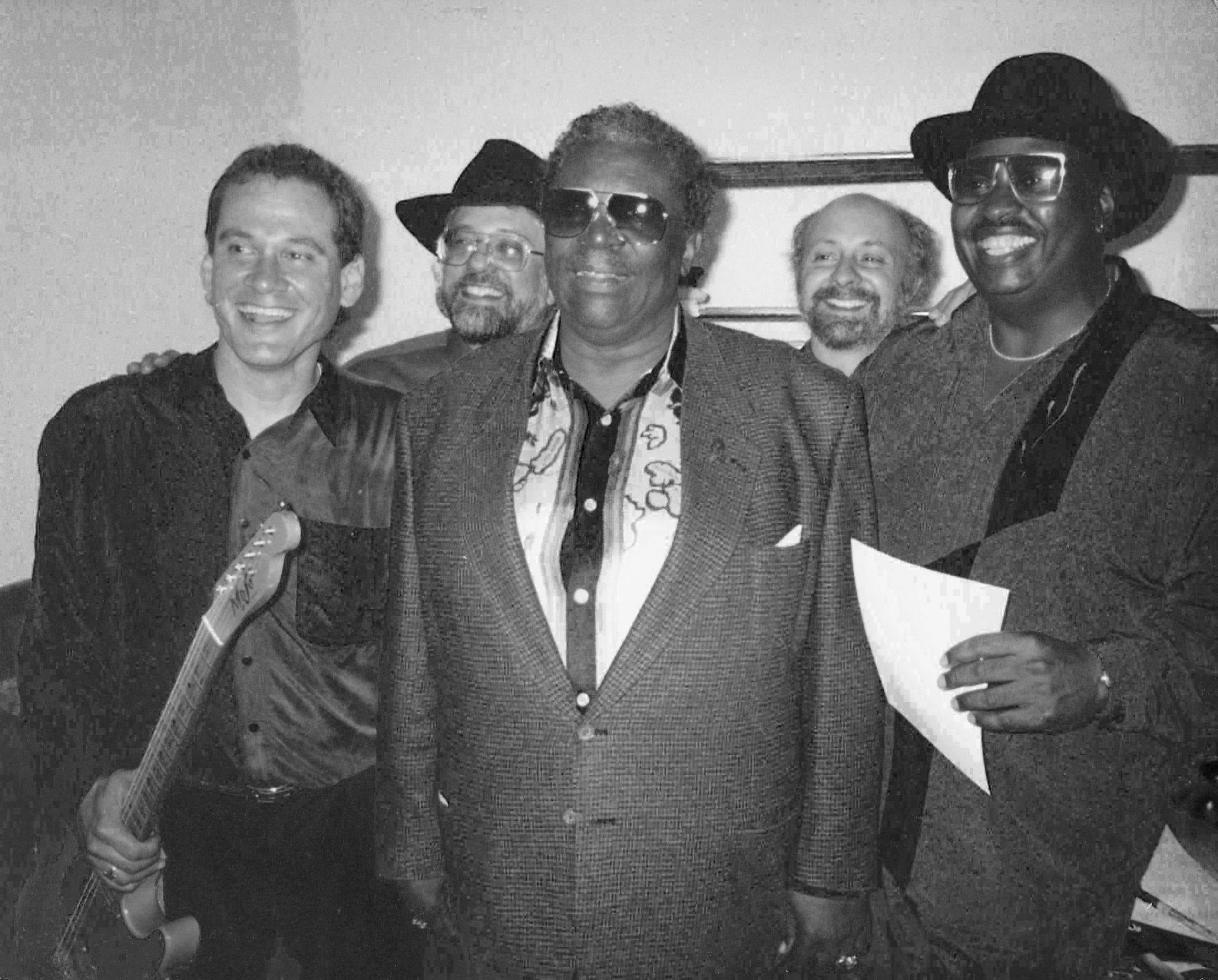 Jerry B. Bowden posting with the late, great B.B. King