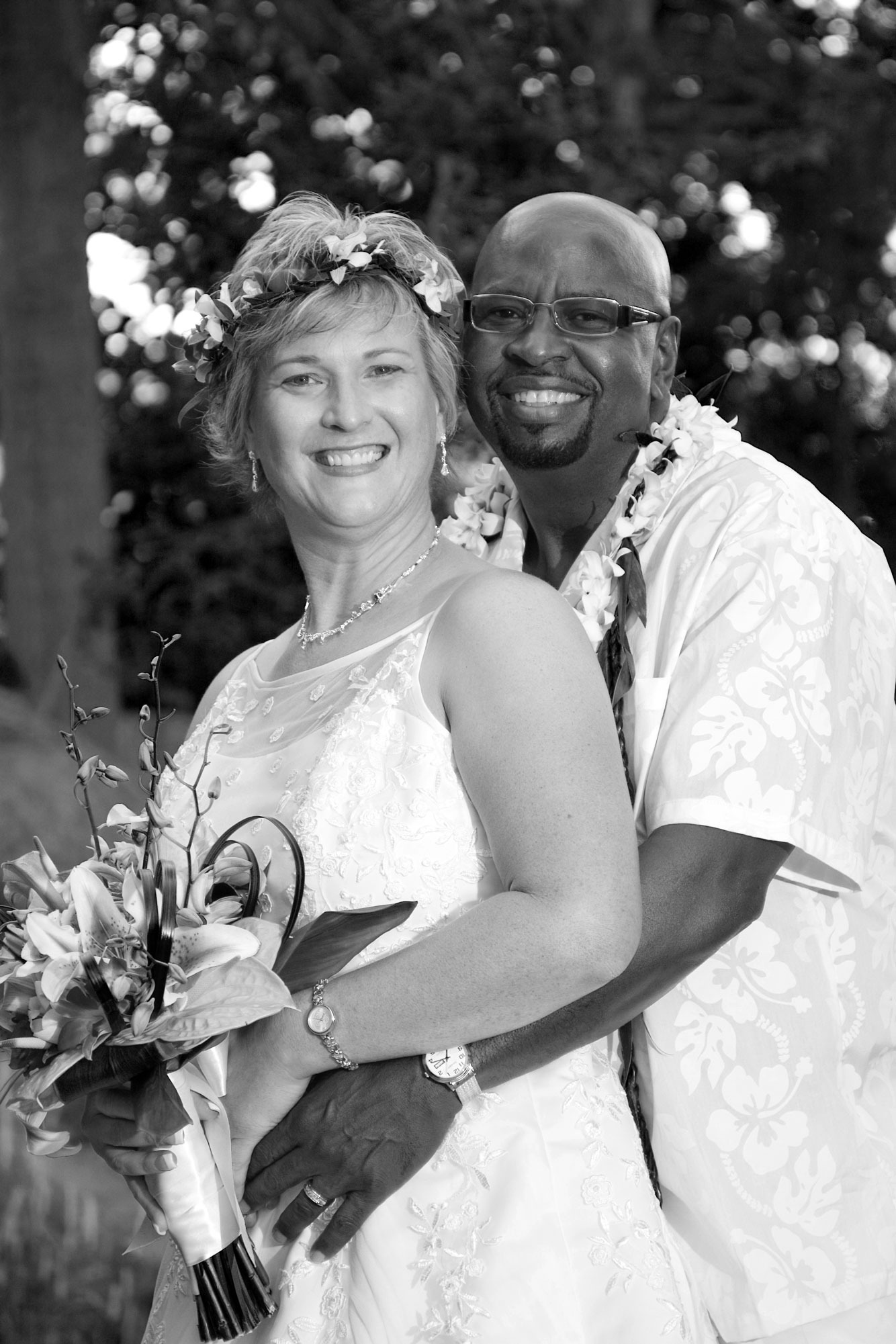 picture of Jerry B. Bowden and Michelle Calloway on their wedding day