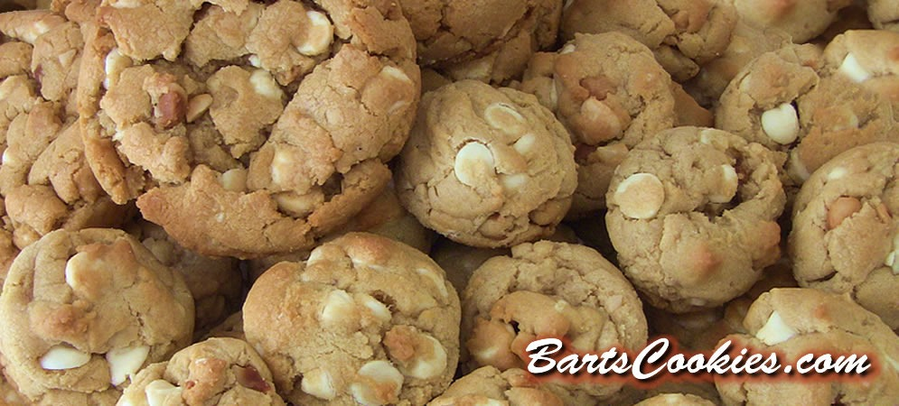 White Chocolate Chip + Macadamia Nuts from BartsCookies.com