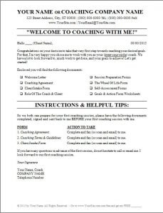 """Welcome To Coaching With Me!"" (Letter)"