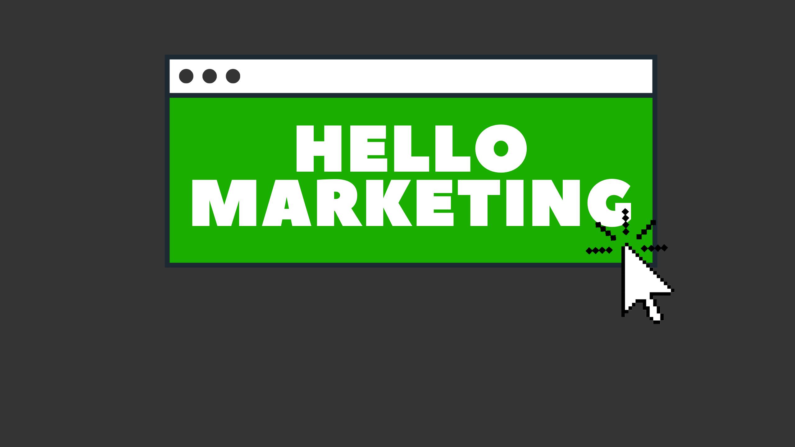 Hello Kaun hello marketing website banner
