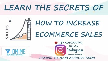 Learn the secrets of ecommerce sales