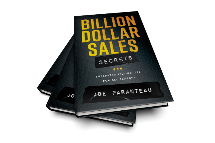 3 books of Billion Dollar Sales Secrets all fanned out.