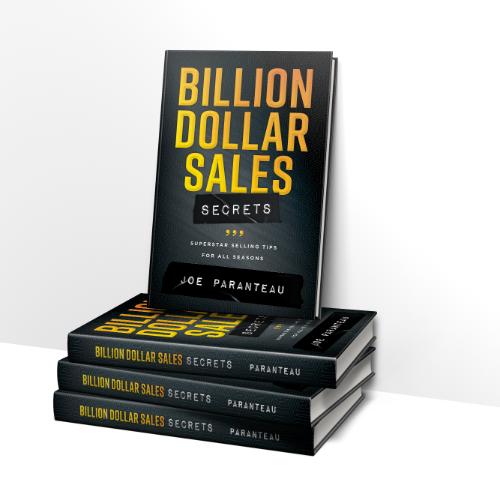 Bllion Dollar Sales Secrets book by Joe Paranteau.  Stacked Books.