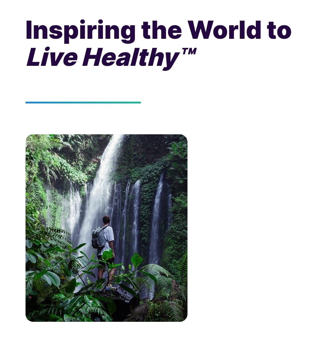 Inspiring the World to Live Healthy