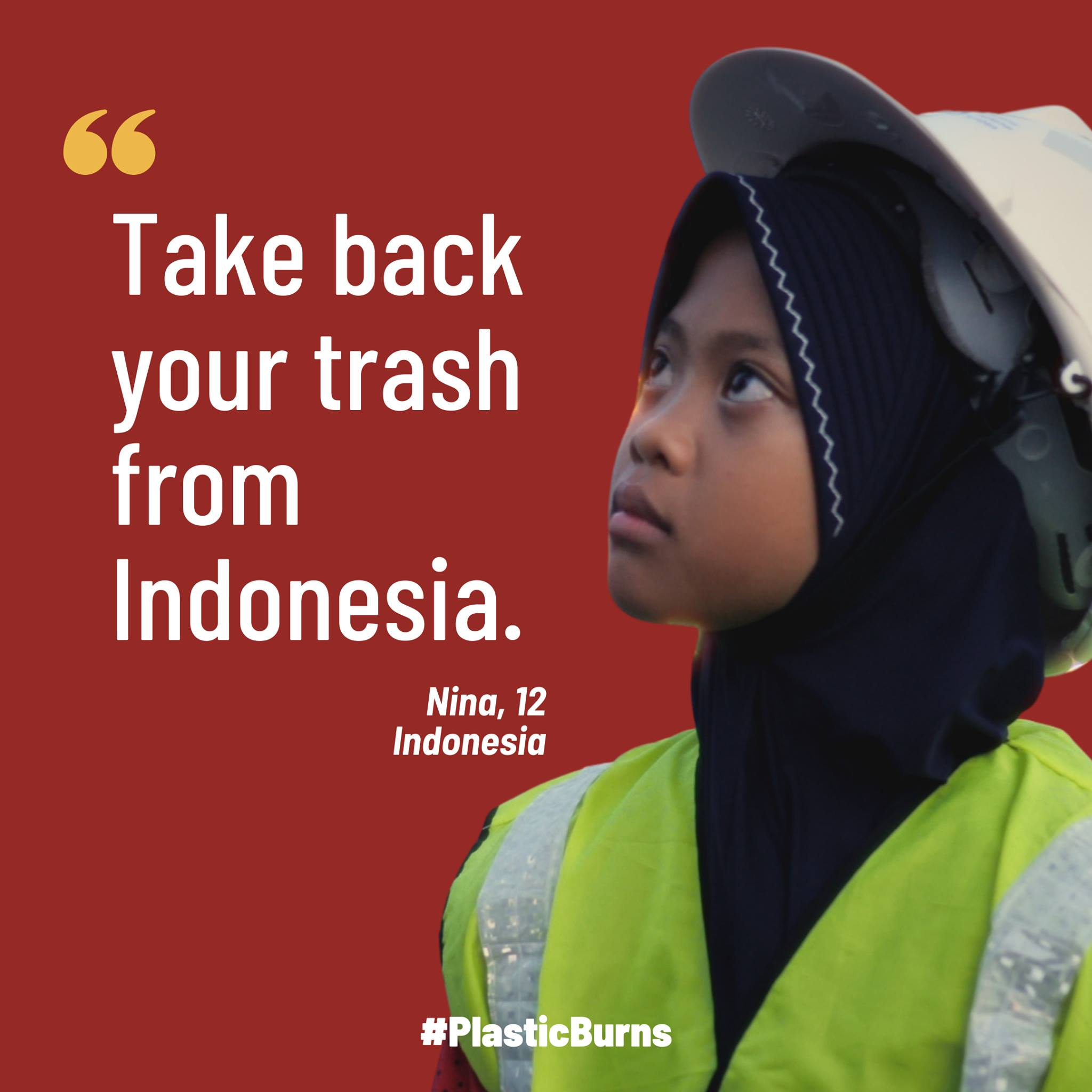 Nina quote: take back your trash from Indonesia