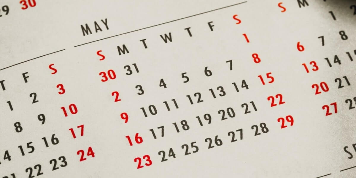 calendar, waiting for keto flu to stop