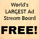 worlds largest ad stream board